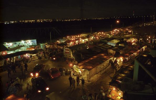 Vista panoramica del mercado de La Salada.