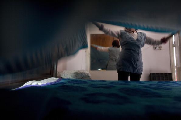 Argentine : Dame de me?nage: Norma travaille 8 heures par semaine chez Teresita, un docteur du quartier de Fflores.