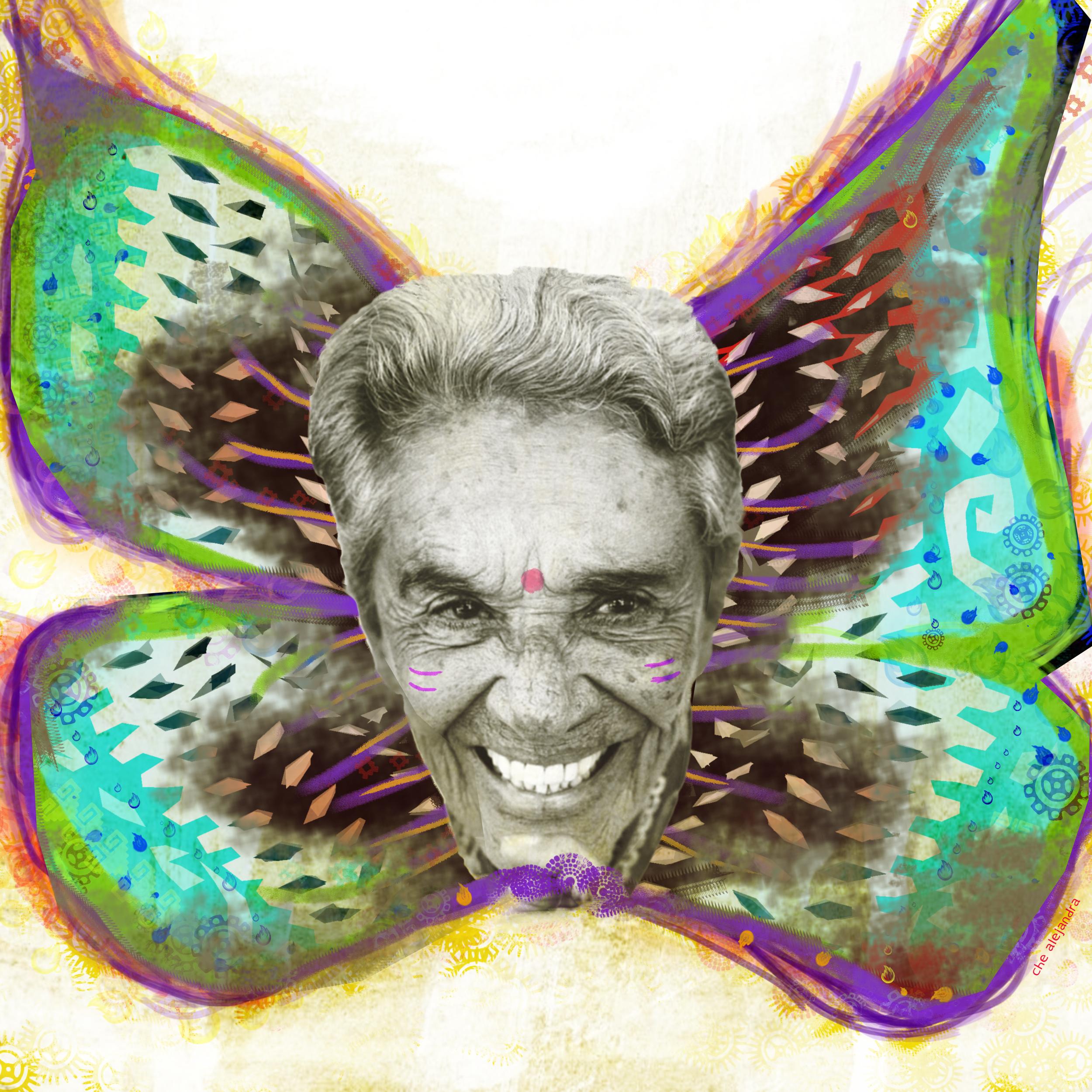 chavela mariposa verde violet