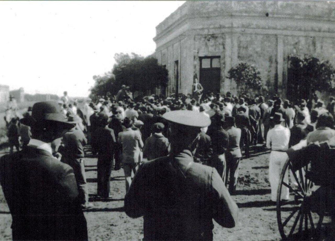 Mitin en el edificio de la Unión Obrera Departamental de Concepción del Uruguay. Circa 1924.  Autor: Sin autor.